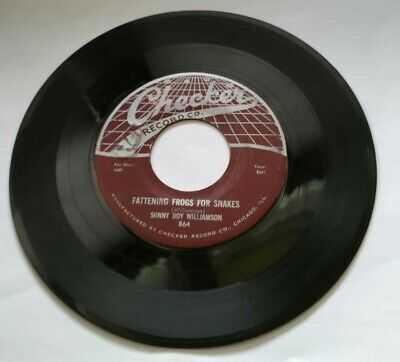 Sonny Boy Williamson 45 - Fattening Frogs for Snakes/I Don't Know Checker 864