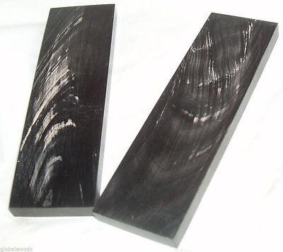 """4.1//2x1.1//4x1//4/"""" Buffalo Horn Scale Black 6 pair 005"""