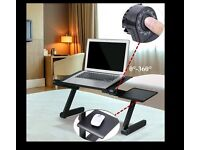 Adjustable Portable Folding Laptop Desk Table Stand Bed Sofa Tray Fr PC Notebook - Brand New
