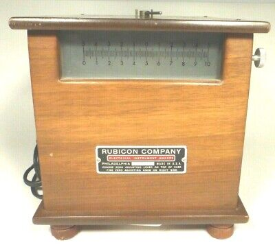 Vintage Honeywell Rubicon Galvanometer W Sliding Glass Scale - Tested Working