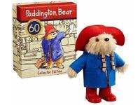 Paddington Bear 60th Anniversary Collectors Edition Plush Soft Toy - . Condition New. .