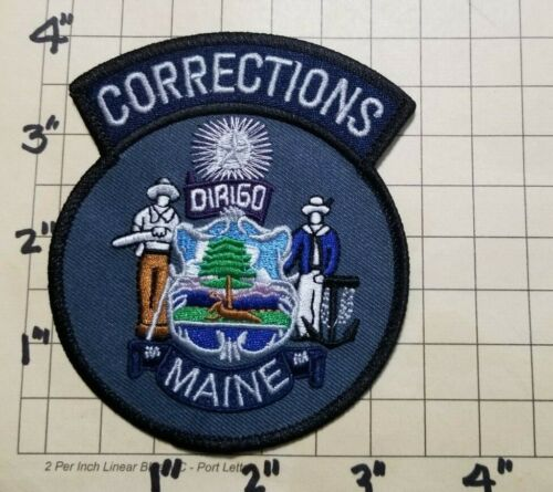 MAINE Department of Corrections Patch      ***NEW***