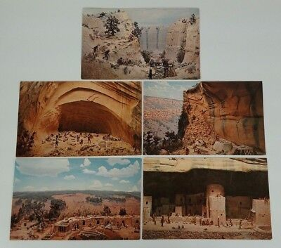 Mesa Verde National Park Museum Colorado Set of 5 Diorama Series Vintage Cards