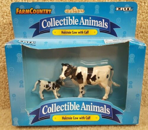 New 1997 Ertl Farm Country Collectible Animals Holstein Cow with Calf #4495