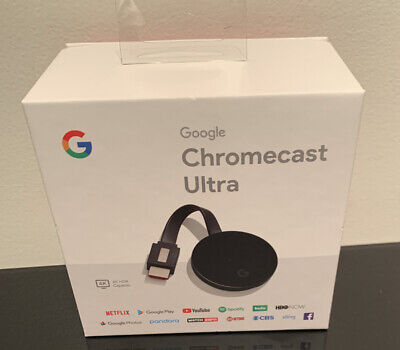 Google Chromecast ULTRA 4K Digital Media Streamer NC2-6A5-D