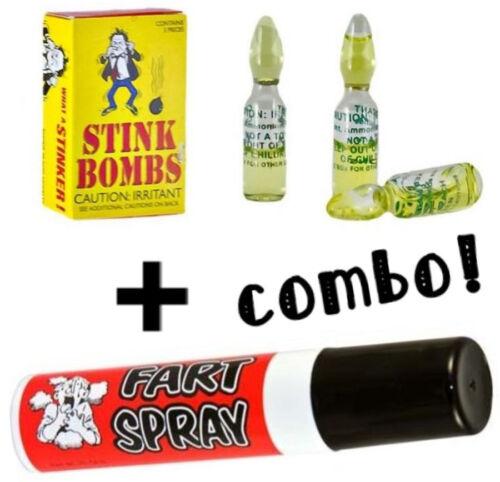 3 Glass Vial Stink Bombs Stinky Bomb Joke Prank Ass Party Favor Gift Fun New