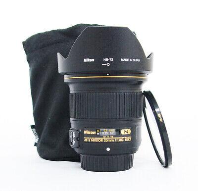 # Nikon NIKKOR 20mm f/1.8G ED AF-S Lens + BW filter S/N 255989