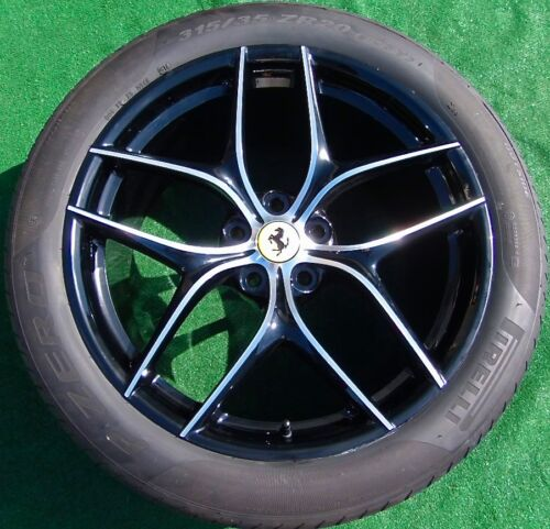 4 Genuine Oem Factory Ferrari F12 Forged 20 Black Machined Wheels Tires Bicolore