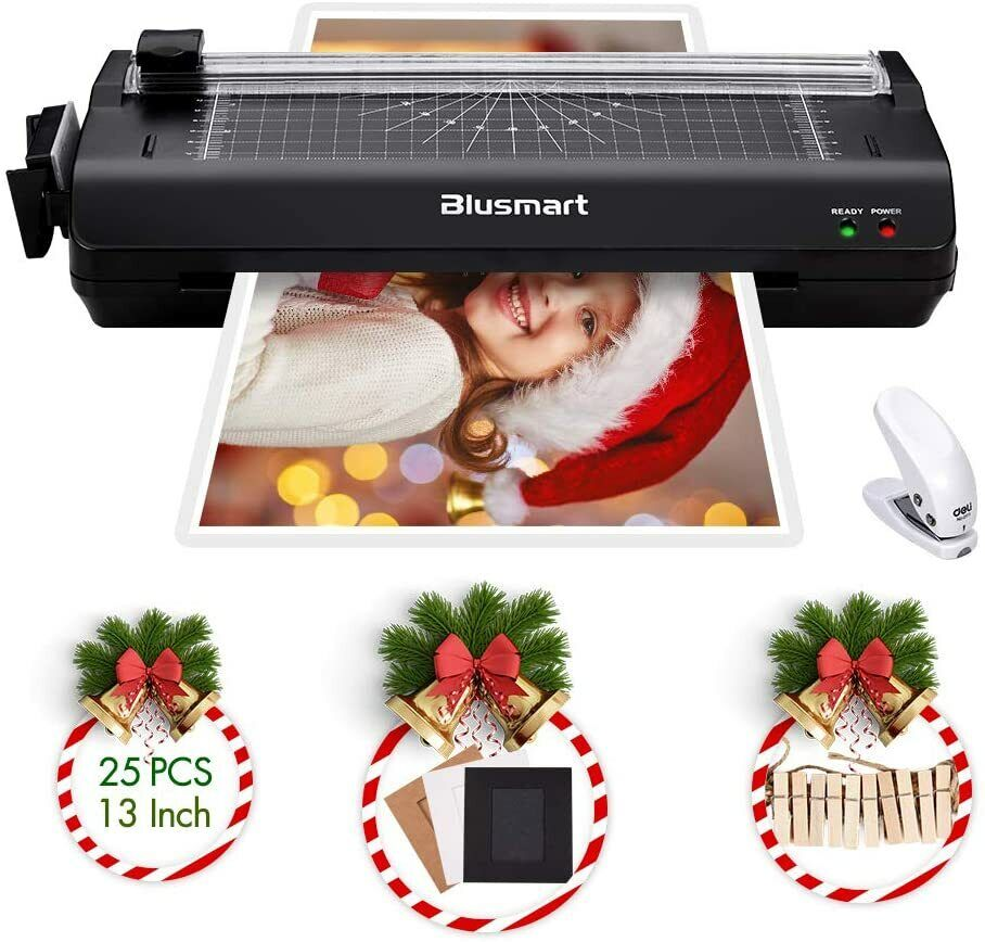 """13"""" A3 Laminator Multiple Function 25 Pouches Cutter Corner"""