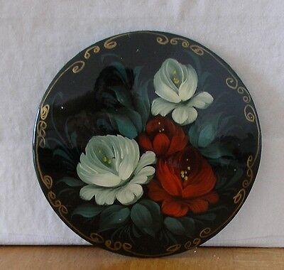 Lackkunst! Miniaturmalerei. Schöne Brosche mit Garten-Blumen!