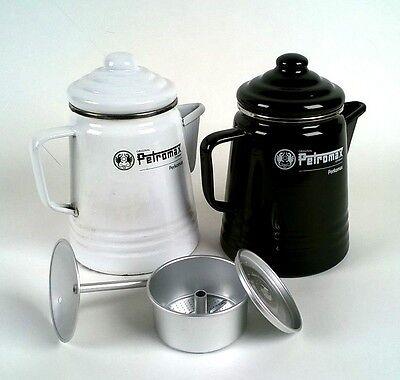 Schwarz, Weiß, Kaffee (Petromax Perkolator Kaffeemaschine schwarz oder weiß Perfekt auf allen Herdarten)