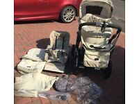 Emmaljunga duo edge 3 in 1 pram with accessories, perfect