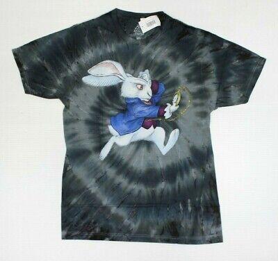 Disney Alice Through The Looking Glass White Rabbit Tie-Dye T-Shirt New! (4B5