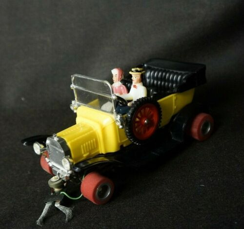 Vintage 1960's 1/24 Slot Car CUSTOM CRAGSTAN Yellow FORD MODEL T