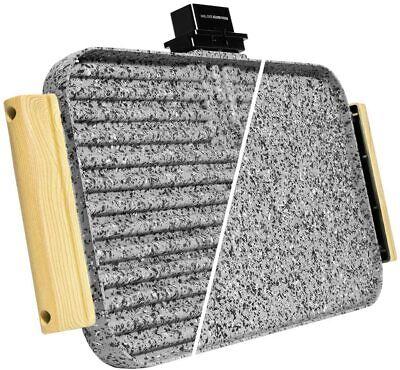 Cecotec Rock&Water 3000 Twin - Plancha Eléctrica Reversible Grill/Plancha 2200W