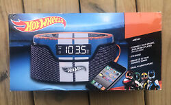 2013 Hot Wheels Mattel Alarm Clock Radio Connects To iPhone NIB Free Shipping