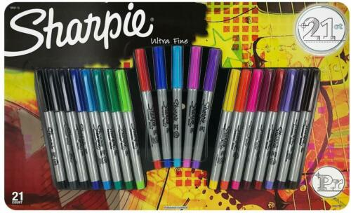 Sharpie Permanent Markers Ultra Fine Point Assorted Colors Set of 21 multi color