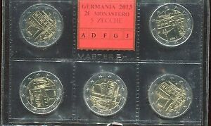 2-euro-commemorativo-Germania-2013-5-ZECCHE-MAULBROON