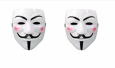 2pk V For Vendetta Movie Costume Mask Guy Fawkes Anonymous Halloween Cosplay ](Halloween Costumes For 2 Guys)