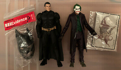 The Dark Knight Movie Batman And Joker With Crime Scene Evidence Action Figures
