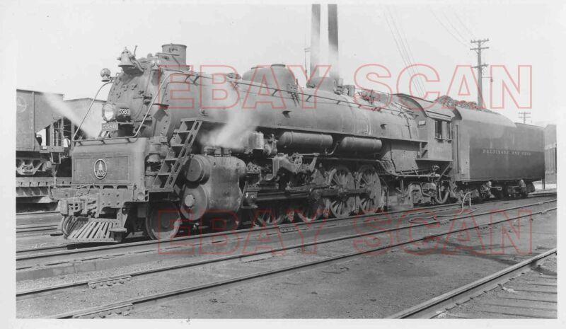 8DD422 RP 1950s/60s BALTIMORE & OHIO RAILROAD 4-8-2 ? ENGINE #5580
