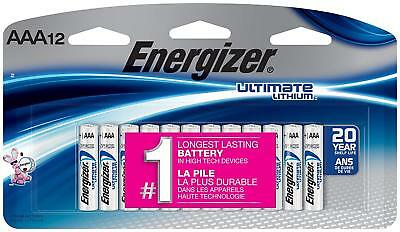 Energizer Ultimate Lithium AAA Batteries 12 Pack Exp. 2038 L92SBP-12