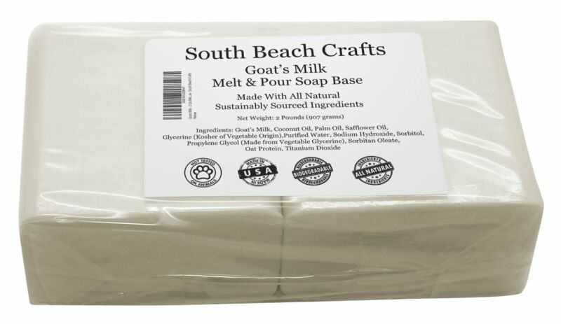 2 lbs Goats Milk Melt And Pour Soap Base DIY Making Supplies