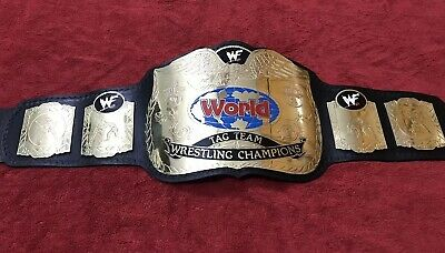 WWF ATTITUDE ERA TAG TEAM CHAMPIONSHIP BELT IN 4MM BRASS PLATES FREE SHIPPING ! for sale  Shipping to Canada