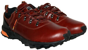 MENS CHERRY COLOUR LEATHER UPPER LACE UP WALKING SHOE IN SIZE 9