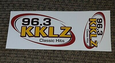 Older 96.3 KKLZ Classic Rock Las Vegas radio station bumper sticker lot of 2 vtg