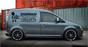 SMALL CUSTOM VAN VEHICLE GRAPHICS SIGN WRITING DECALS LETTERING STICKERS