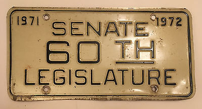 1971 1972 West Virginia Legislature Senate Senator License Plate Government