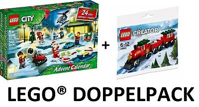 Lego 60268 City Advent Calendar +30543 Creator Christmas Train Polybag New / Ovp
