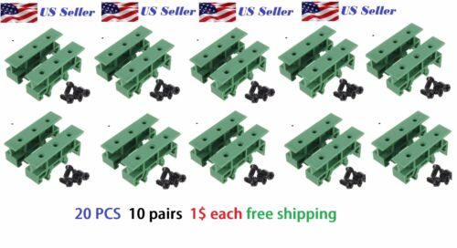 10x DIN Rail 35mm Mounting Support Adapters plastic Feet for LxW≤100mm PCB relay