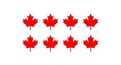 CANADIAN MAPLE LEAF Vinyl Decals Phone Mirror Laptop Small Canada 1.5