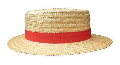 Men's Straw Hat Circular Saw Classic 4 Colors May Festival Fathers Day Gondolier - Gondolier Hat