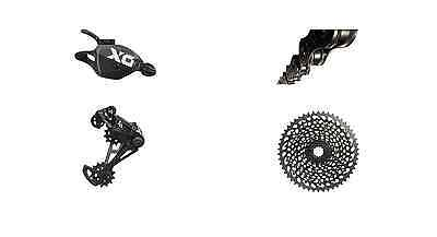 Sram X01 Eagle Drivetrain with Cassette, Shifter, Derailleur and Chain in Black