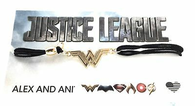 Alex And Ani Wonder Woman Kindred Schnur Justice League Armband 14kt Vergoldete ()