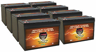 Qty8 Slr100 Vmax 12V 100Ah Solar Battery 800Ah Total For Yingli Pv Solar Panels