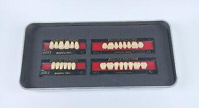 5sets Shofu Endura Full Denture False Tooth Resin Fake Teeth M28 A2 Upperlower
