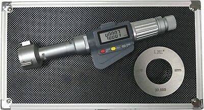 3-point Internal Micrometer Hole Bore Gauge Gage1.18-1.575 0.000050.001mm