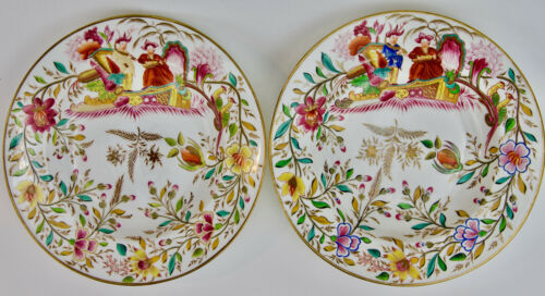 Pair of English Chinoiserie Decorated Porcelain Bowls