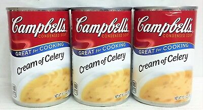 Campbell's Cream of Celery Condensed Soup 10.50 oz 3 Cans (Campbells Cream Of Celery Soup)