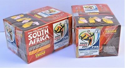 Panini World Cup 2010 - 2 x sealed box display including 100 packs of stickers