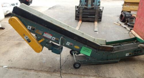 "Hytrol Model PCX Low Profile Portable Part Conveyor 12"" Wide Belt .5HP 1725RPM"