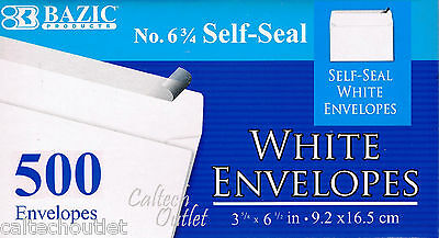 500 Peel And Self-seal White Letter Mailing Envelopes Shipping 3-58 X 6-12