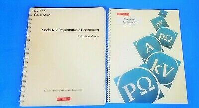 Keithley 617 Programmable 614 Electrometer Instruction Manuals