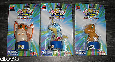Digimon 3 verschiedene Stempel OVP Patamon Gabumon Agumon