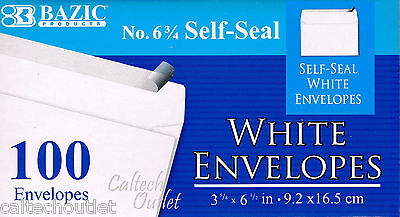 100 Peel And Self-seal White Letter Mailing Envelopes Shipping 3-58 X 6-12