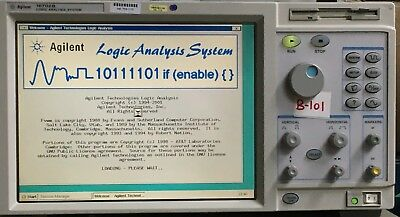 Hp-agilent-16702b-logic-analysis-system-w-16760a 16718a And Cables